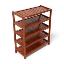 Kệ dép 5 tầng IB573 gỗ cao su 73x30x86 cm màu cánh gián 2