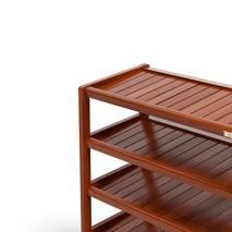 Kệ dép 5 tầng IB573 gỗ cao su 73x30x86 cm màu cánh gián 3