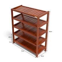Kệ dép 5 tầng IB573 gỗ cao su màu cánh gián kt