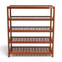 Kệ dép 5 tầng IB573 gỗ cao su 73x30x86 cm màu cánh gián 1
