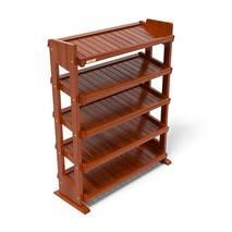 Kệ dép 5 tầng IB580 gỗ cao su màu cánh gián 2
