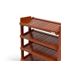 Kệ dép 5 tầng IB580 gỗ cao su màu cánh gián 3