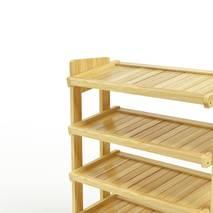 Kệ dép 5 tầng IB580 gỗ cao su màu tự nhiên 2