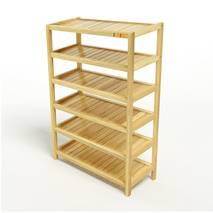 Kệ dép 6 tầng IB673 gỗ cao su 73x30x105 cm 1