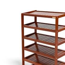 Kệ dép 6 tầng IB673 gỗ cao su 73x30x105 cm 3