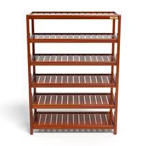 Kệ dép 6 tầng IB673 gỗ cao su 73x30x105 cm màu cánh gián 1
