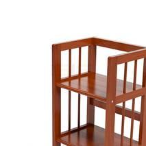 Kệ sách 3 tầng HB340 gỗ cao su màu tự nhiên 3