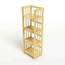 Kệ sách 4 tầng HB440 gỗ cao su màu tự nhiên 2