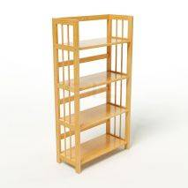 Kệ sách 4 tầng HB463 gỗ cao su màu tự nhiên 4