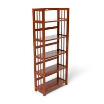 Kệ sách 5 tầng HB563 gỗ cao su màu cánh gián kt