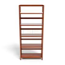 Kệ sách 5 tầng HB563 gỗ cao su màu cánh gián 4