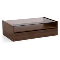 Bàn trà sofa Osaka 1 ngăn kéo màu gỗ tự nhiên walnut nghiêng 60