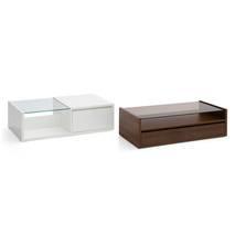 Bàn trà sofa Osaka 1 ngăn kéo màu gỗ tự nhiên walnut option