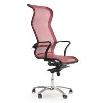Ghế lưới văn phòng cao cấp Jupiter SB2000 Plus màu đỏ nghiêng