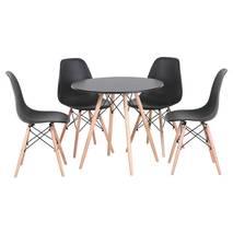 Bộ bàn tròn Eiffel đen 4 ghế 3