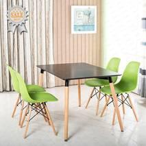 Bộ bàn Veron đen 4 ghế 2