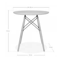 Kích thước Bàn tròn Eiffel trắng chân gỗ