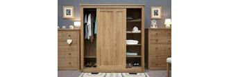 Tủ quần áo cửa lùa gỗ sồi