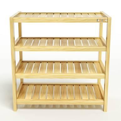 Kệ dép 4 tầng IB463 gỗ cao su 1
