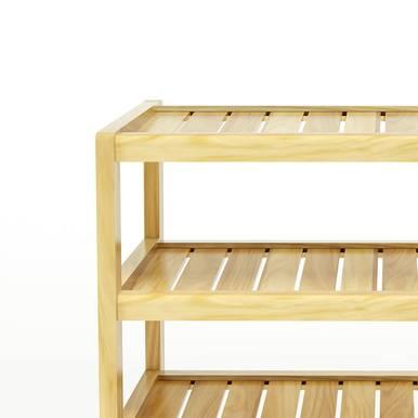 Kệ dép 4 tầng IB463 gỗ cao su 2