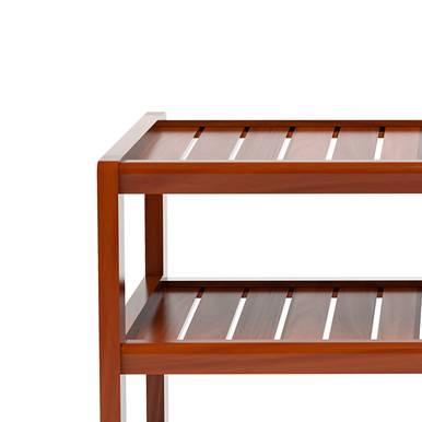 Kệ dép 4 tầng IB473 gỗ cao su 73x30x68 cm màu cánh gián 3