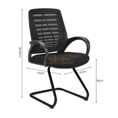 Hình kích thước Ghế chân quỳ IB503 màu đen