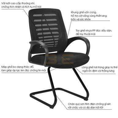 Hình mô tả Ghế chân quỳ IB503 màu đen