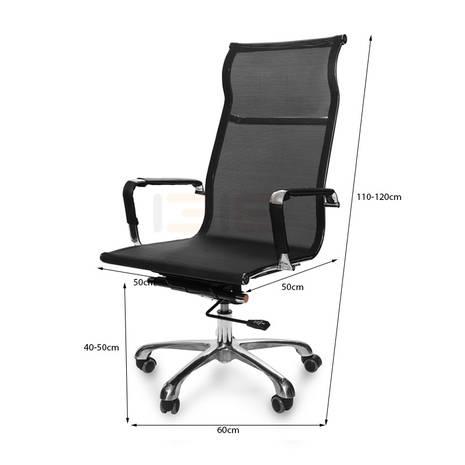 Kích thước ghế lưới IB811 chân hợp kim nhôm cao cấp màu đen