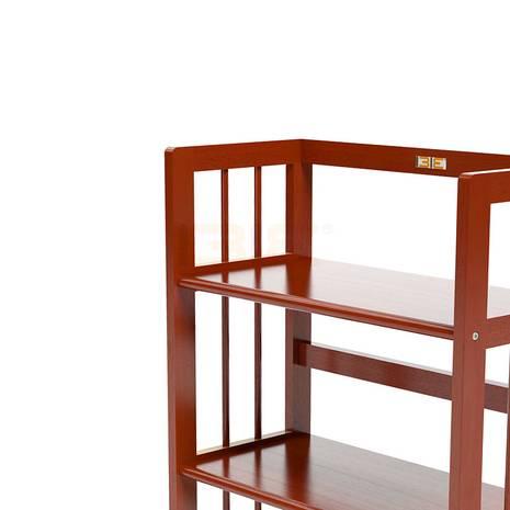 Kệ sách 5 tầng HB563 gỗ cao su màu cánh gián 3