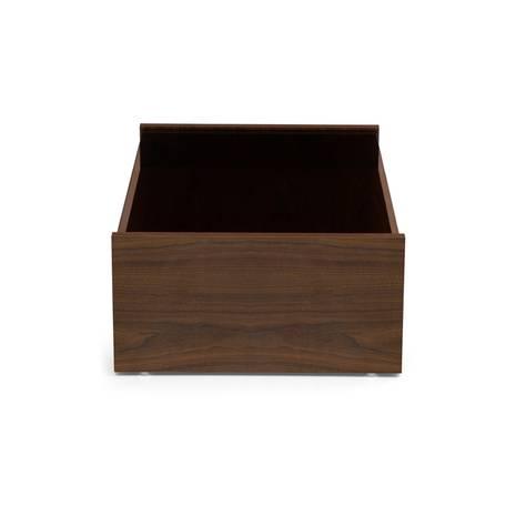 Bàn trà sofa Osaka không ngăn kéo màu gỗ walnut cạnh